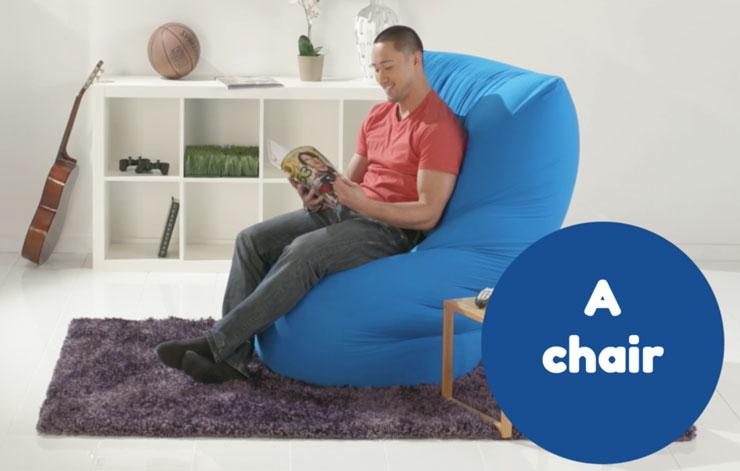 ヨギボーマックスを椅子として使う